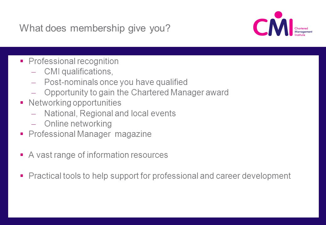 What does membership give you