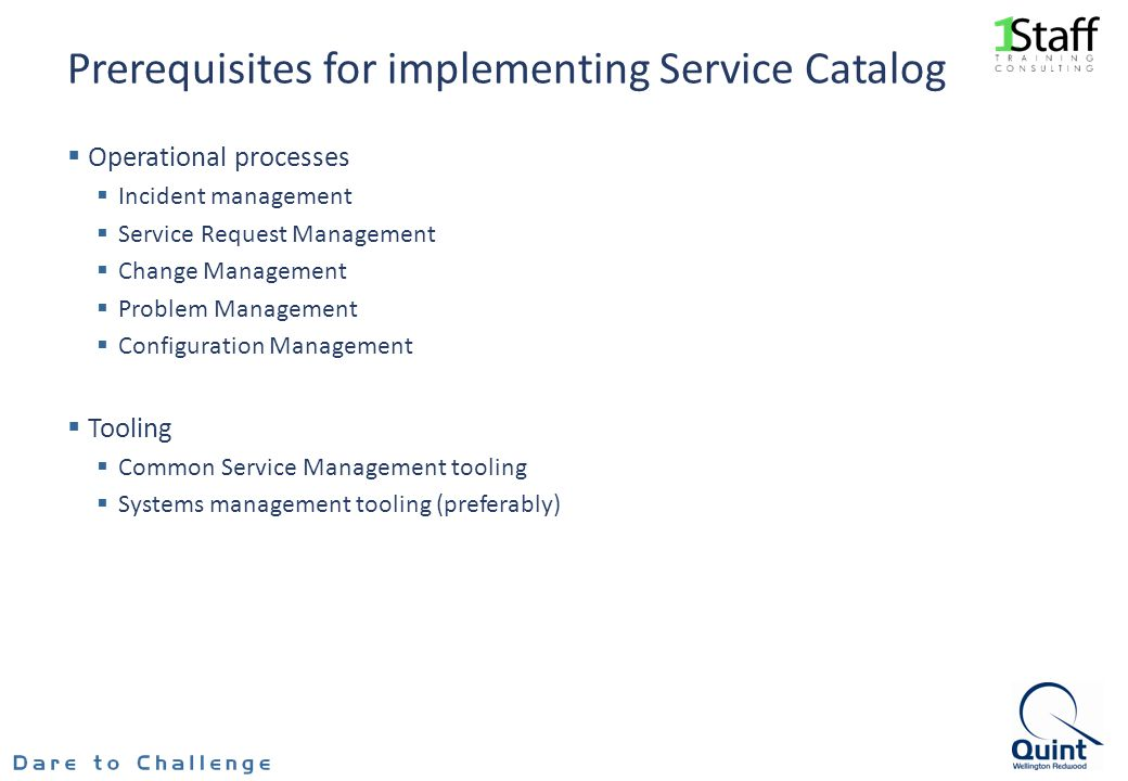 Prerequisites for implementing Service Catalog