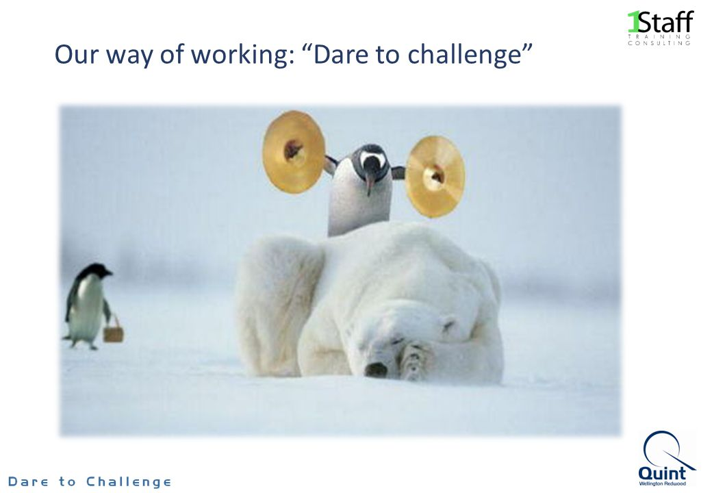 Our way of working: Dare to challenge
