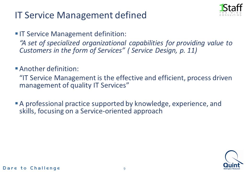 IT Service Management defined
