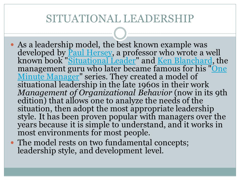 case study on situational leadership