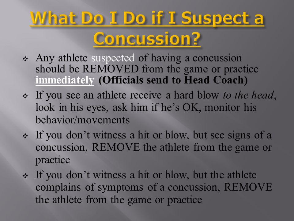 What Do I Do if I Suspect a Concussion