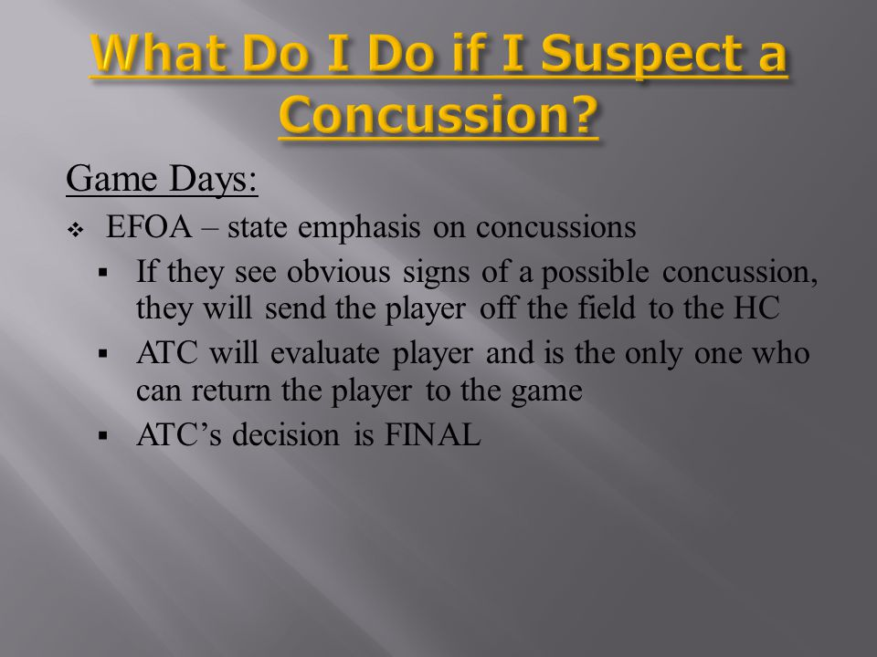 What Do I Do if I Suspect a Concussion