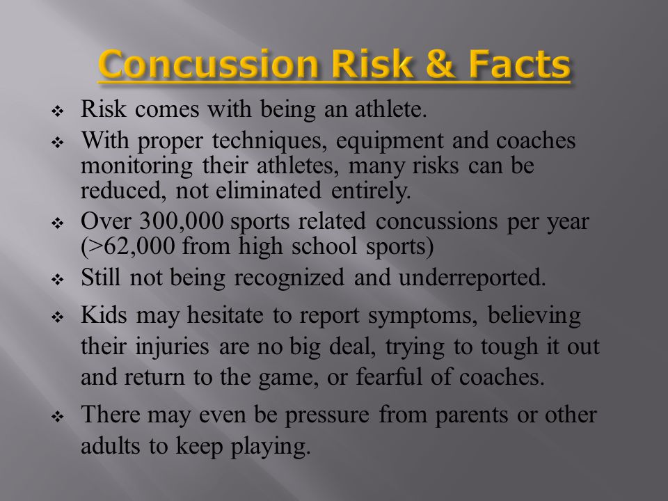 Concussion Risk & Facts