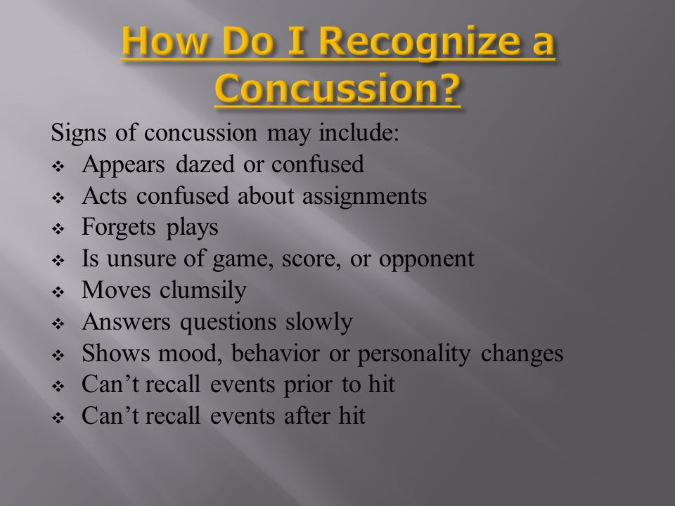 How Do I Recognize a Concussion