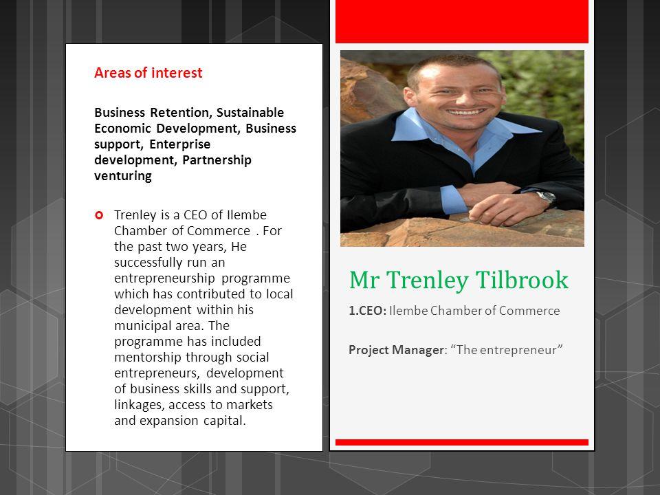 Mr Trenley Tilbrook Areas of interest