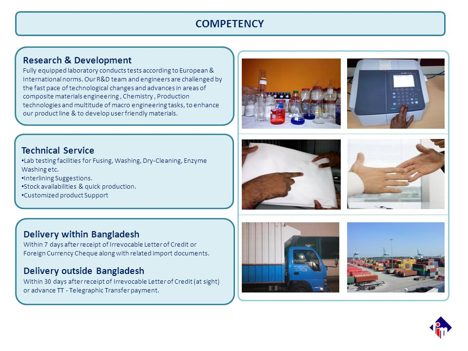 COMPETENCY Research & Development Technical Service
