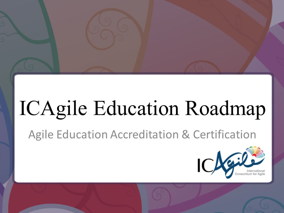 ICAgile Education Roadmap