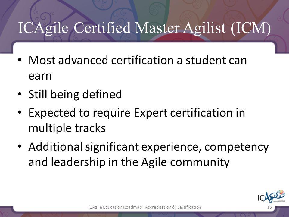 ICAgile Certified Master Agilist (ICM)