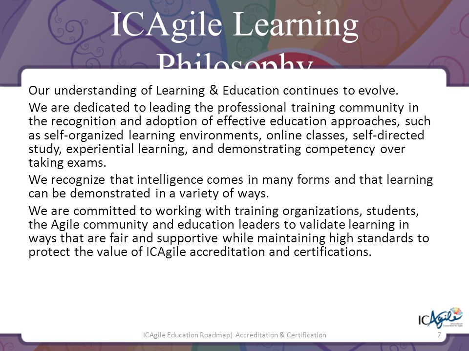 ICAgile Learning Philosophy