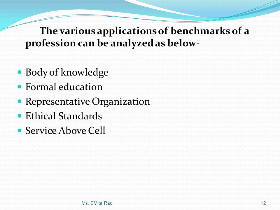 Representative Organization Ethical Standards Service Above Cell