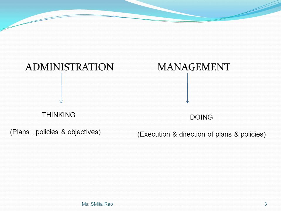 (Execution & direction of plans & policies)