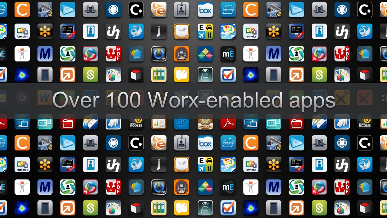 Over 100 Worx-enabled apps