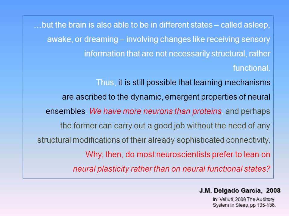 …but the brain is also able to be in different states – called asleep,