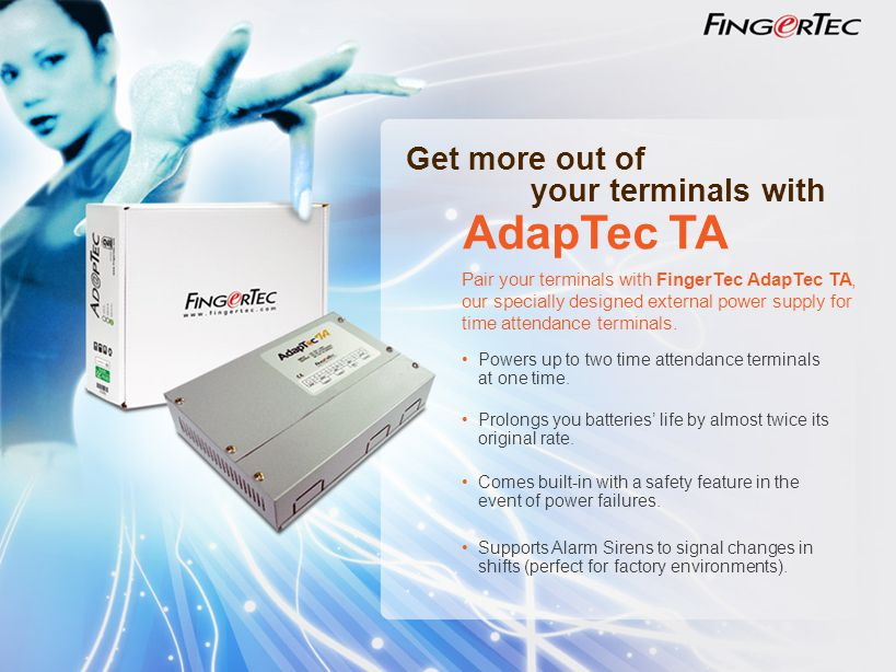 AdapTec TA Get more out of your terminals with