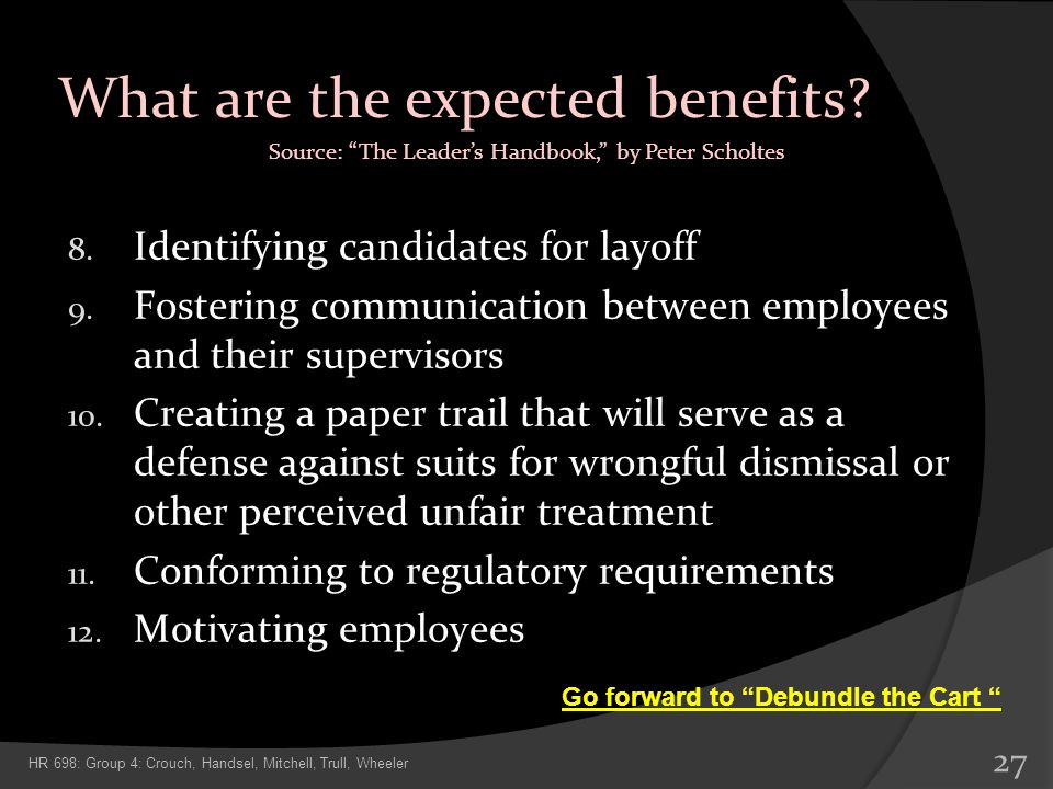 What are the expected benefits