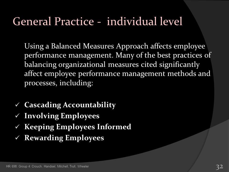 General Practice - individual level