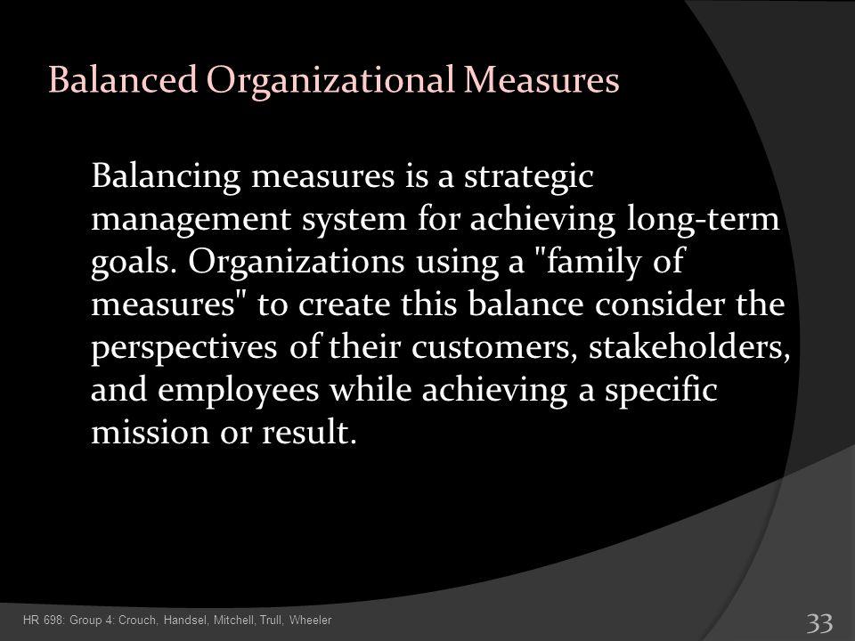 Balanced Organizational Measures