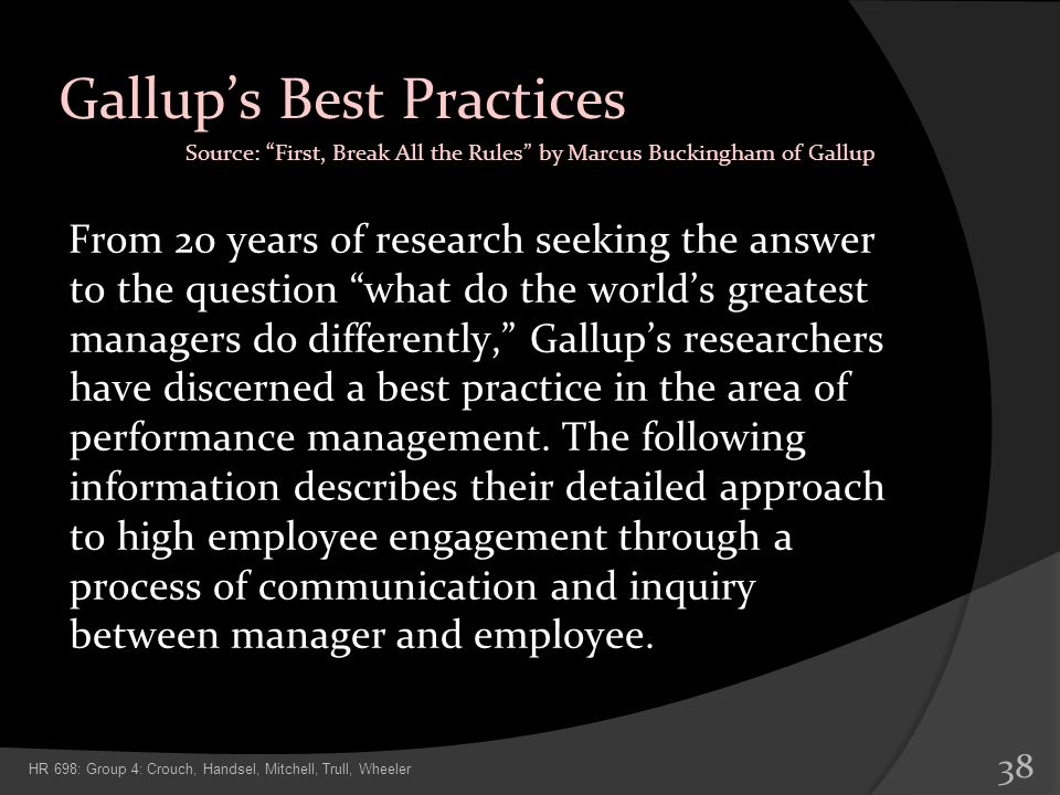 Gallup's Best Practices