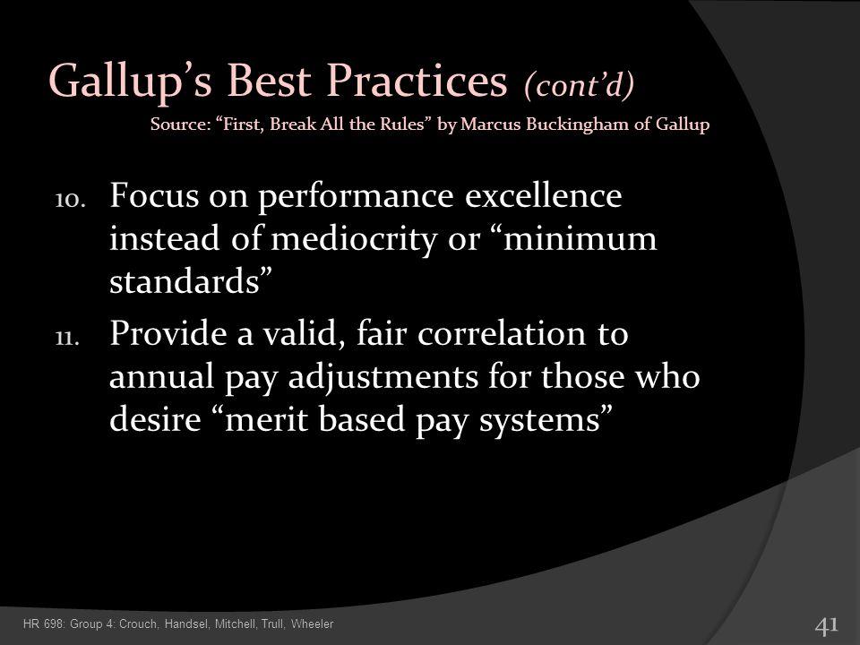 Gallup's Best Practices (cont'd)