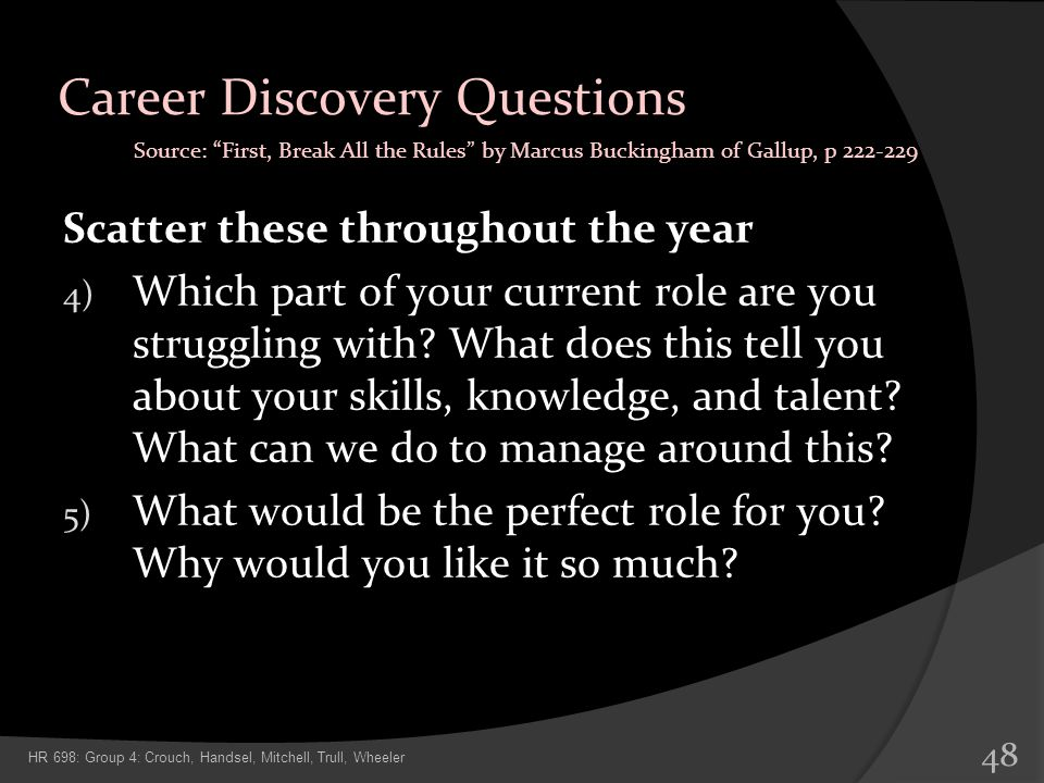 Career Discovery Questions