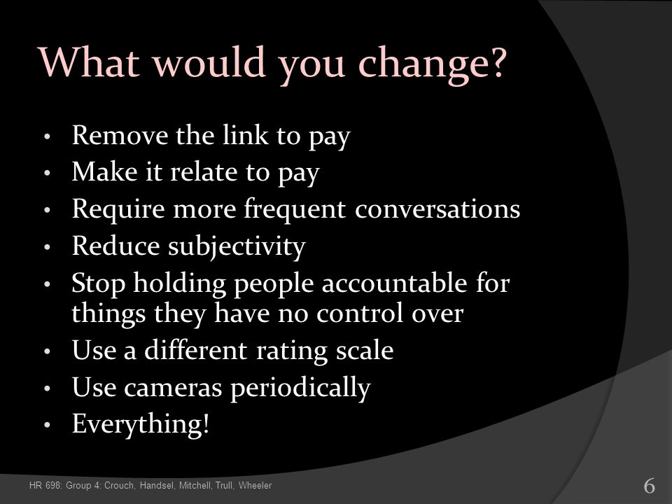 What would you change Remove the link to pay Make it relate to pay