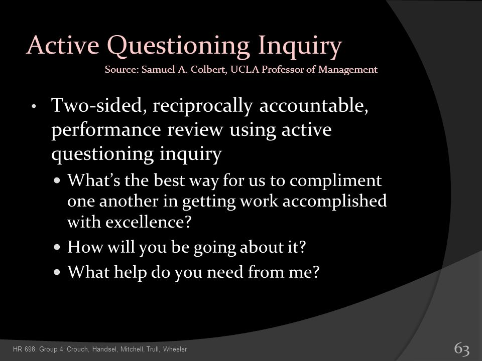 Active Questioning Inquiry