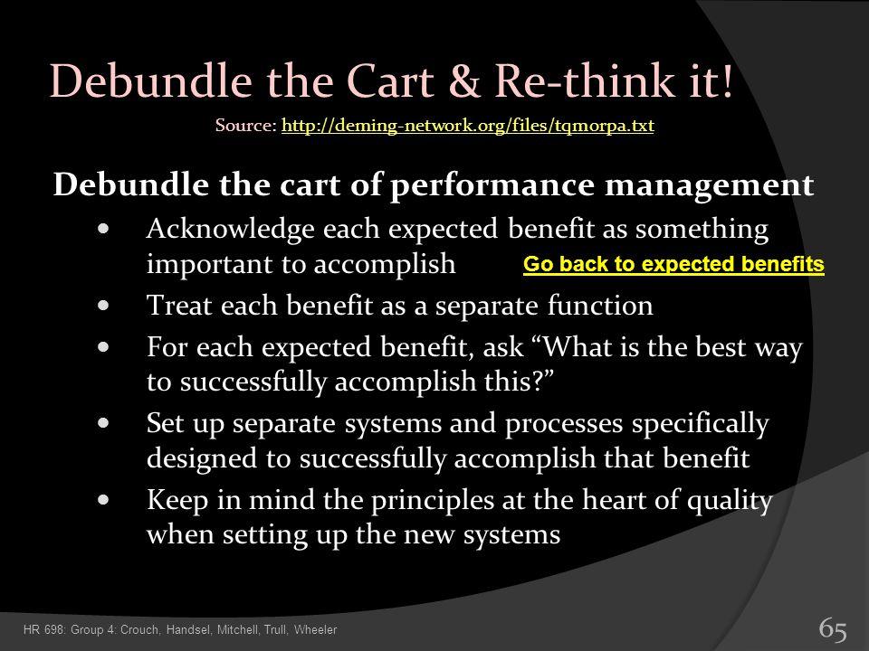 Debundle the Cart & Re-think it!