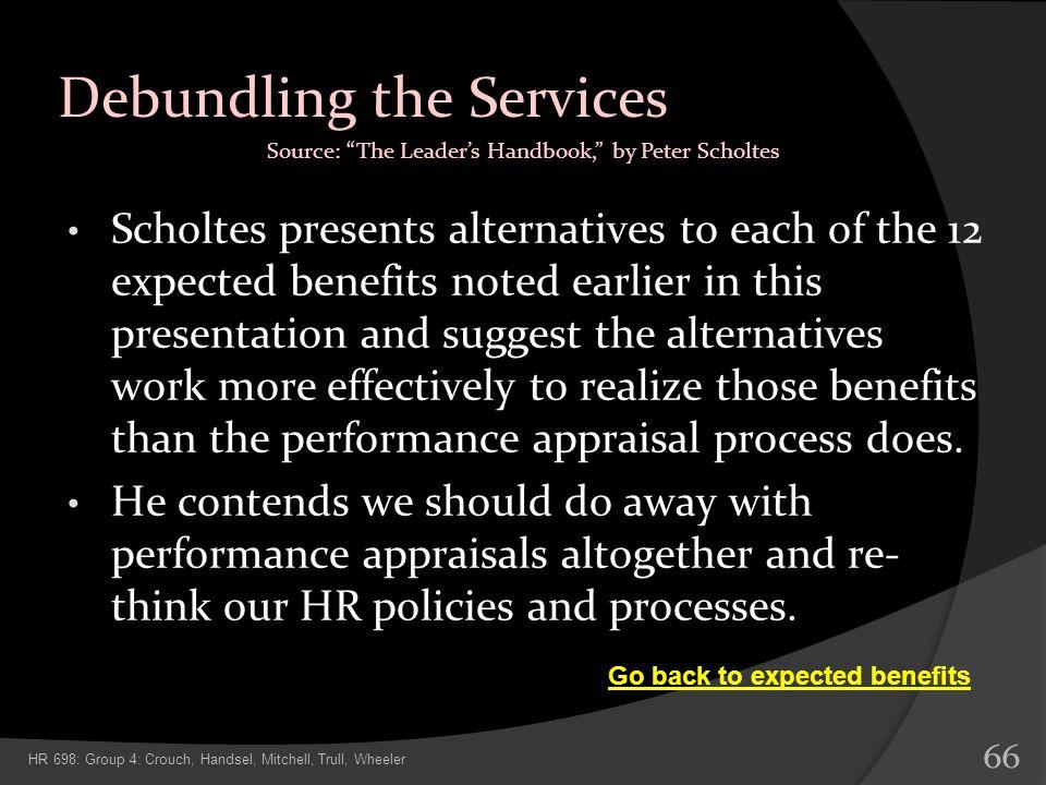 Debundling the Services