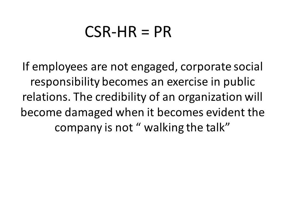 CSR-HR = PR