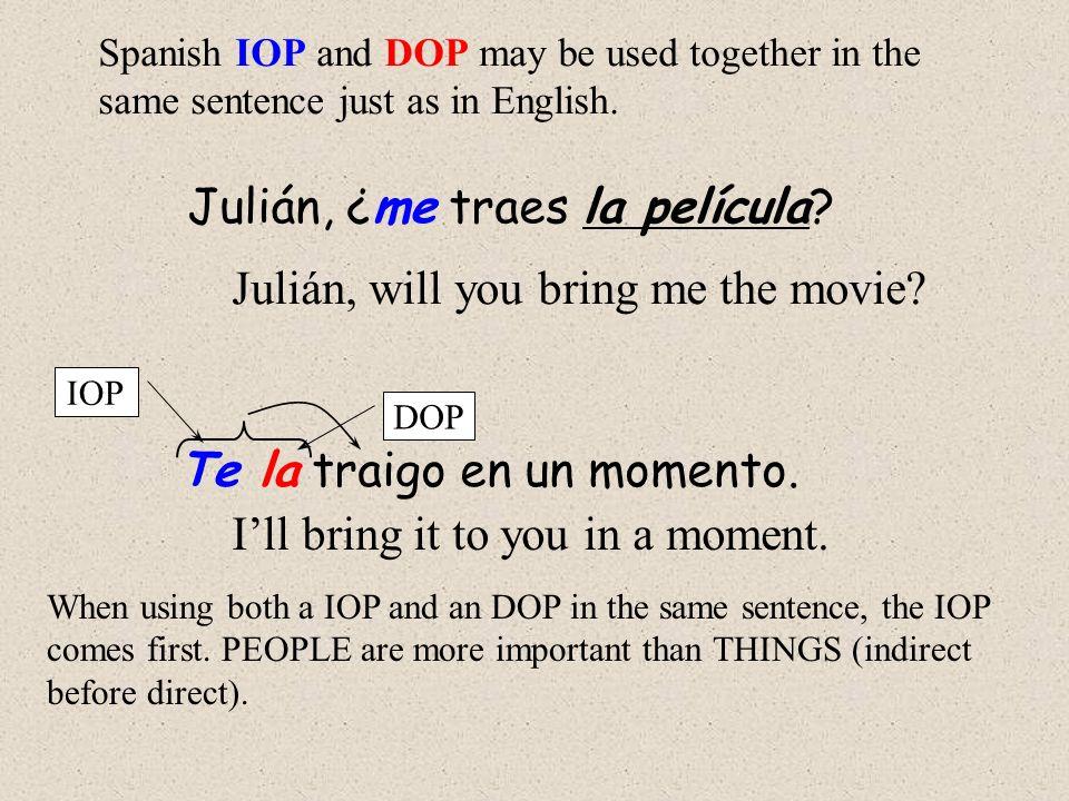 Julián, ¿me traes la película