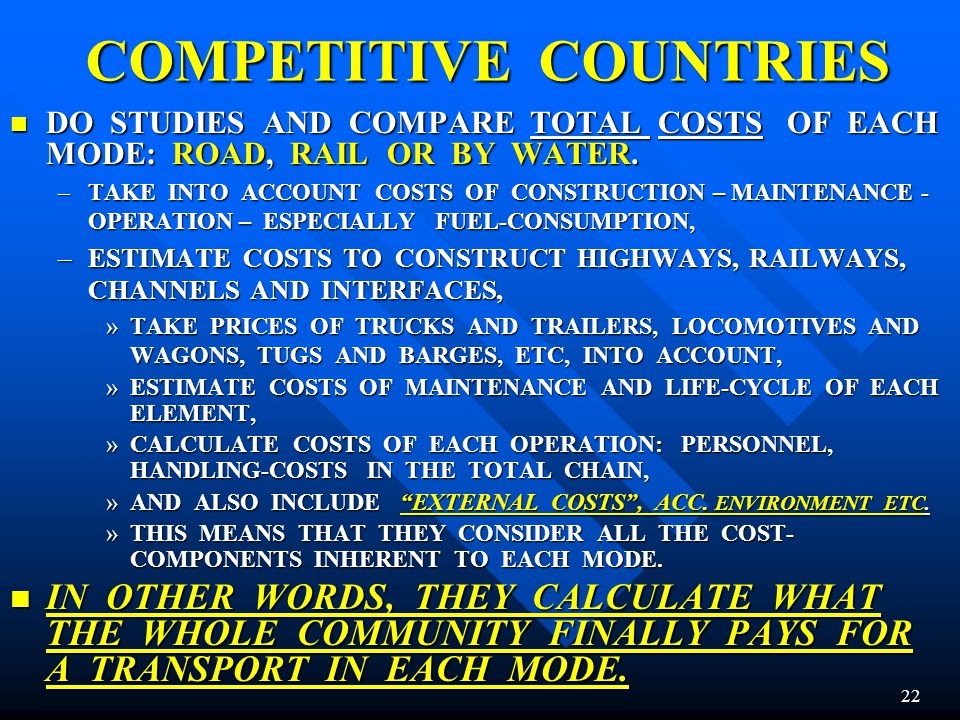 COMPETITIVE COUNTRIES
