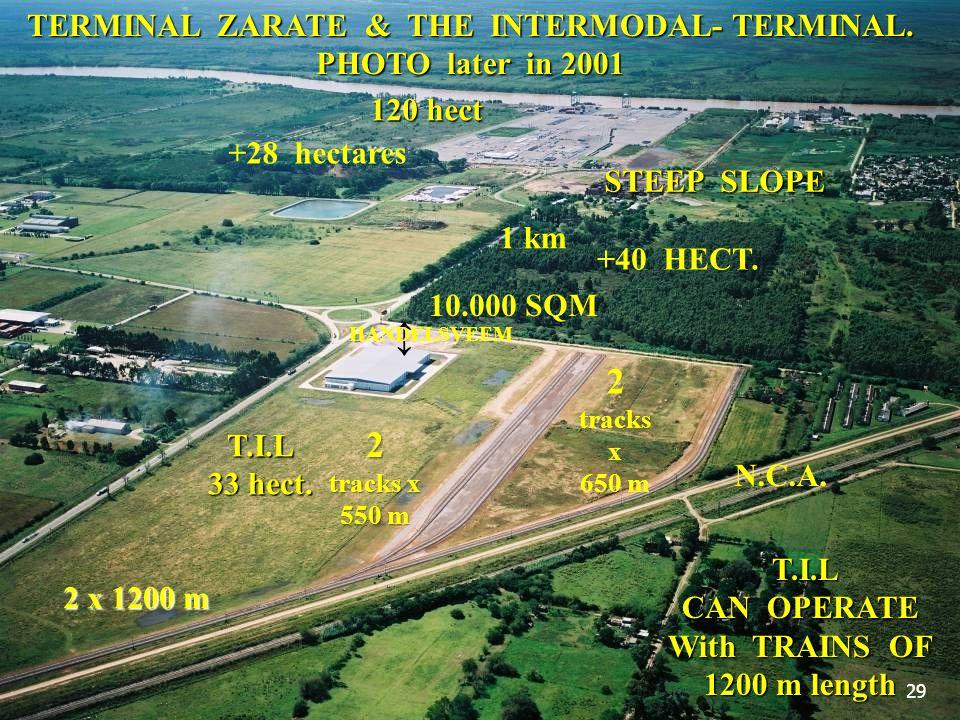 TERMINAL ZARATE & THE INTERMODAL- TERMINAL. PHOTO later in 2001