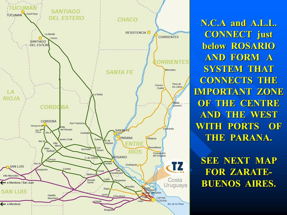 THE IMPORTANCE OF THE LOCATION OF A PORT IN THE LOGISTICCHAIN - Zarate argentina map