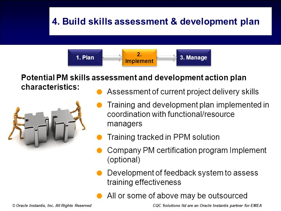 4. Build skills assessment & development plan