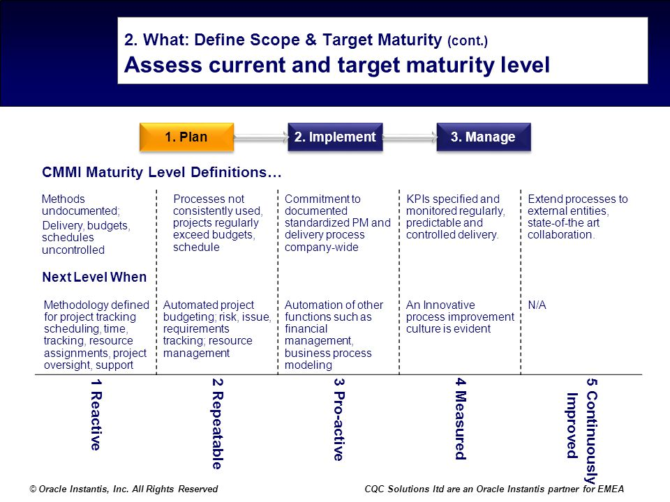 2. What: Define Scope & Target Maturity (cont