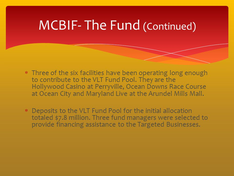 MCBIF- The Fund (Continued)