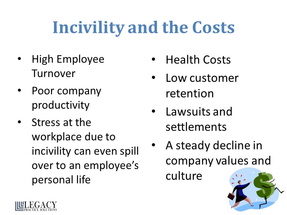 Incivility and the Costs