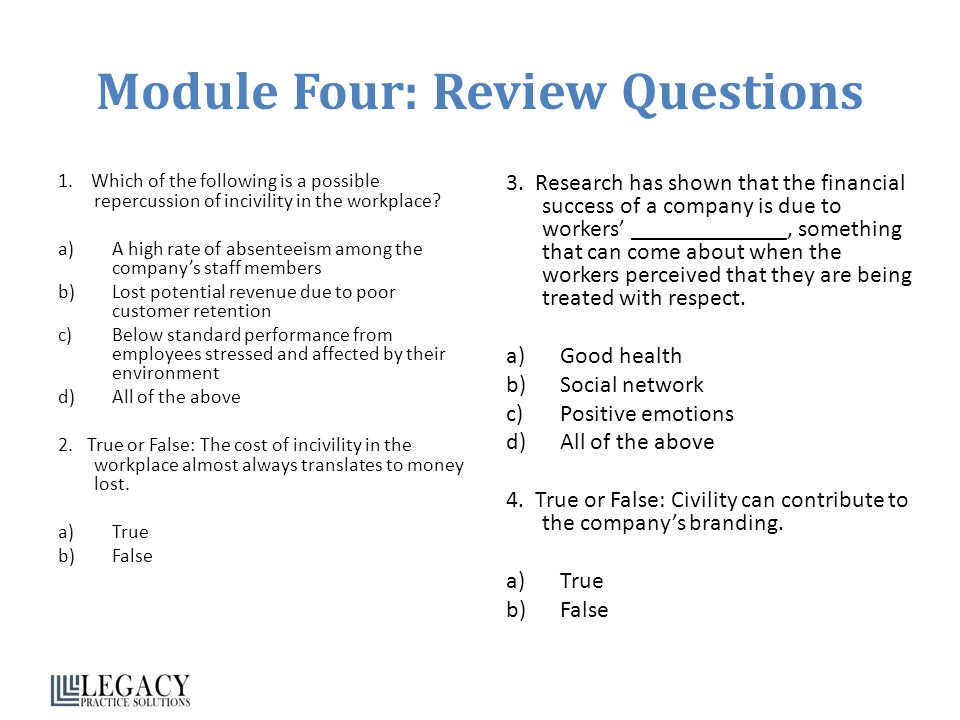 Module Four: Review Questions