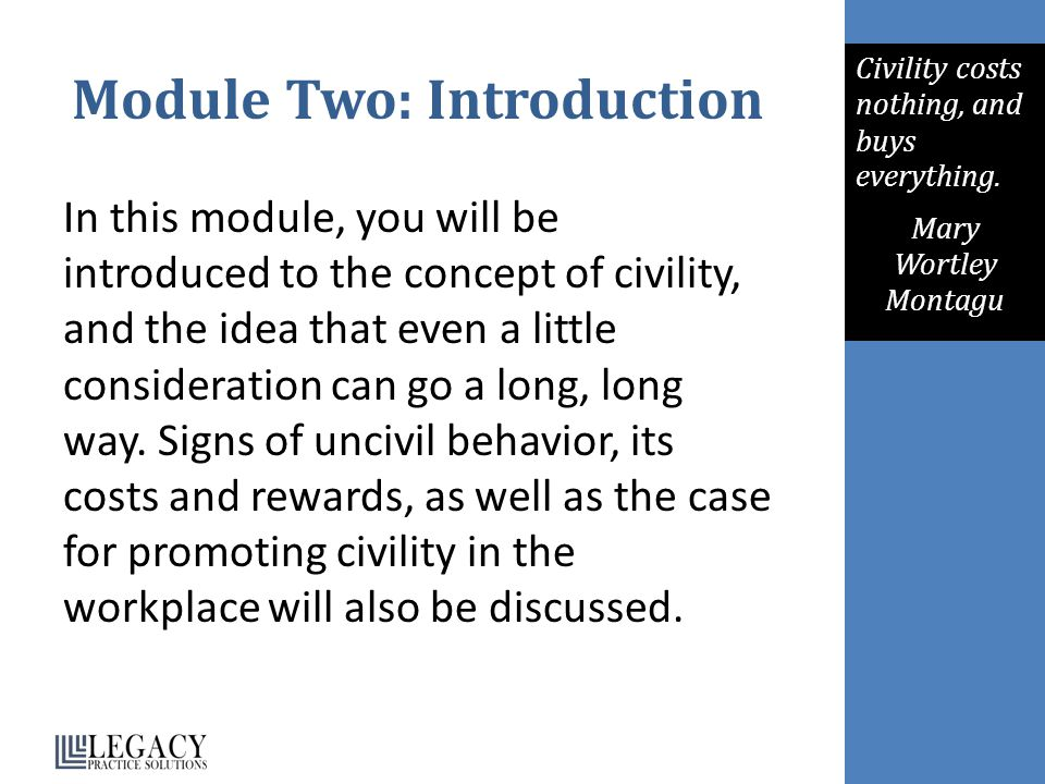 Module Two: Introduction