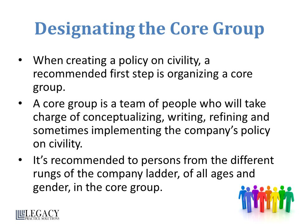 Designating the Core Group
