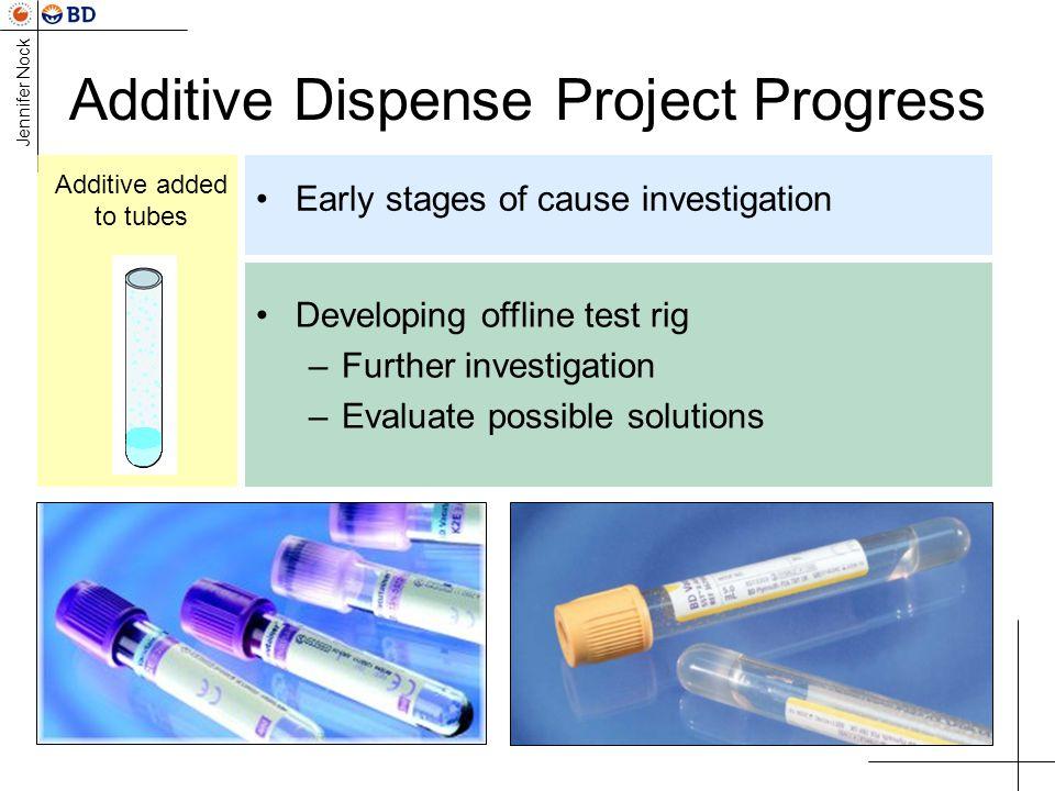Additive Dispense Project Progress