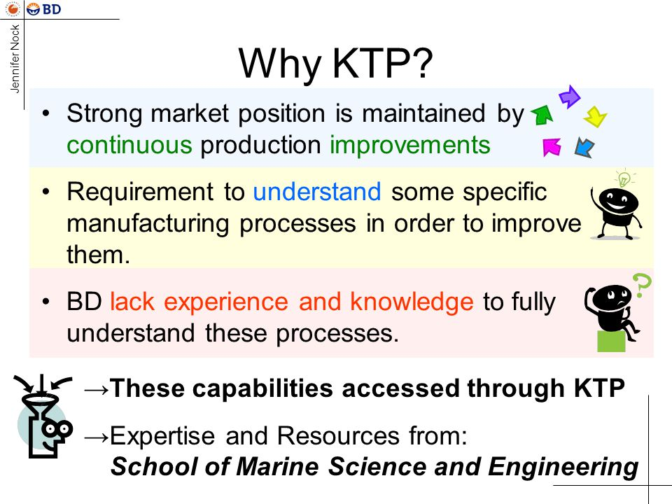 Why KTP Strong market position is maintained by continuous production improvements.