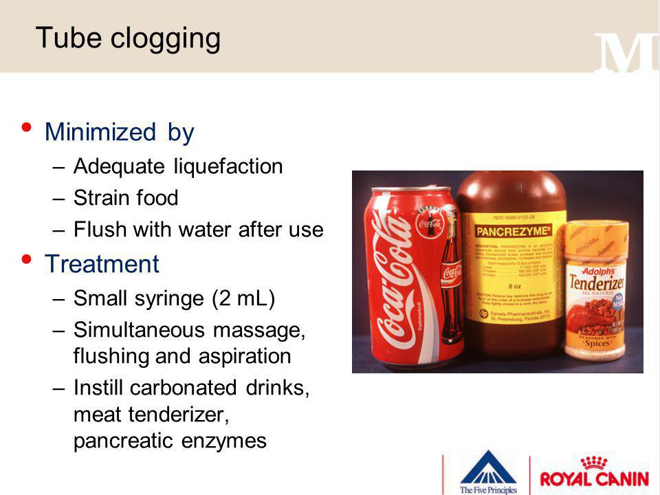 Tube clogging Minimized by Treatment Adequate liquefaction Strain food