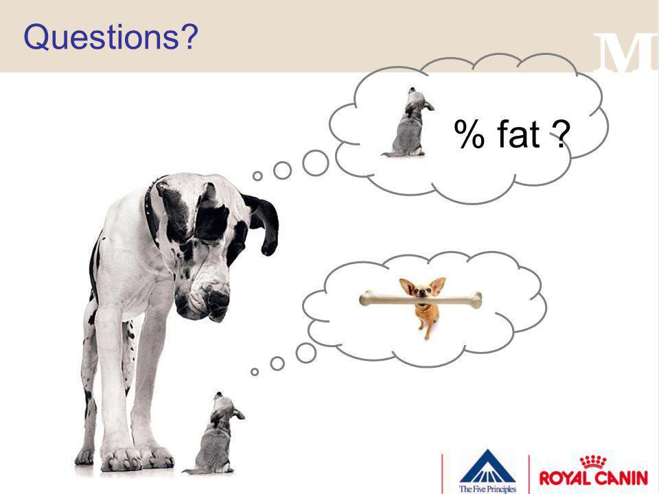 Questions % fat