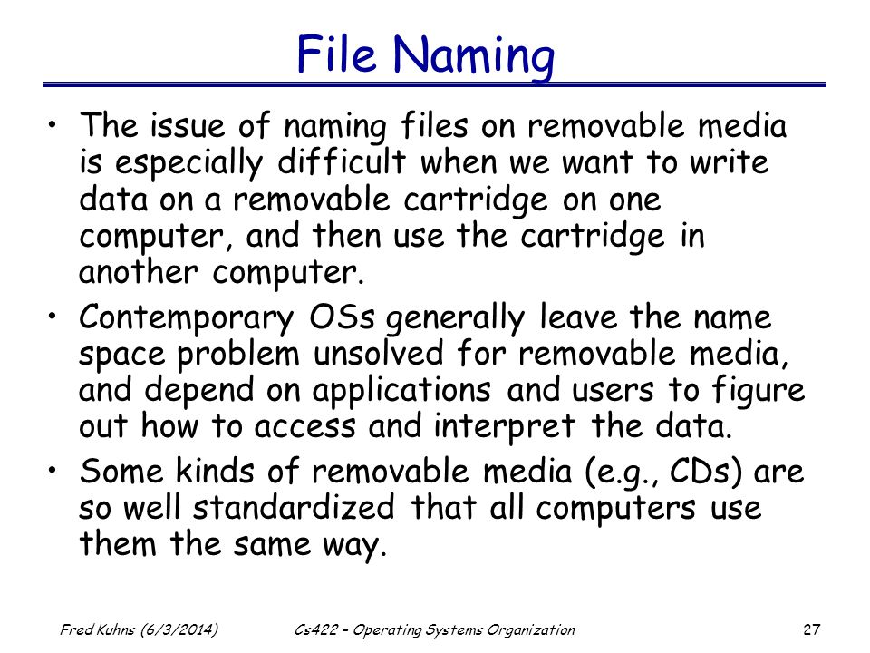Cs422 – Operating Systems Organization