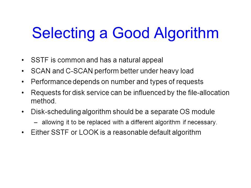 Selecting a Good Algorithm