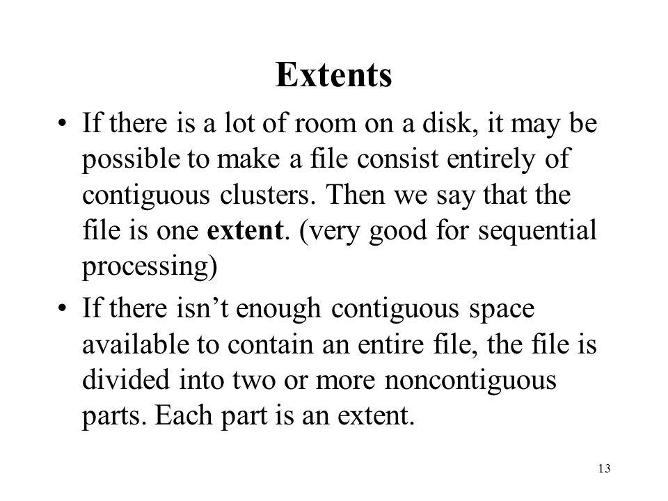 Extents