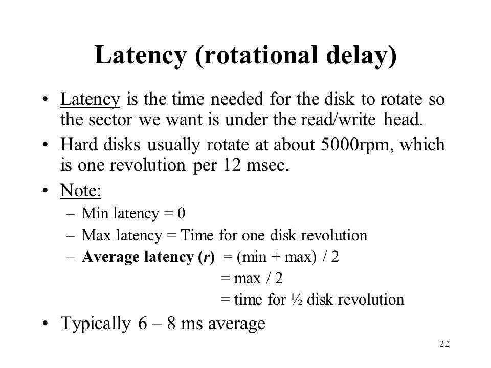Latency (rotational delay)