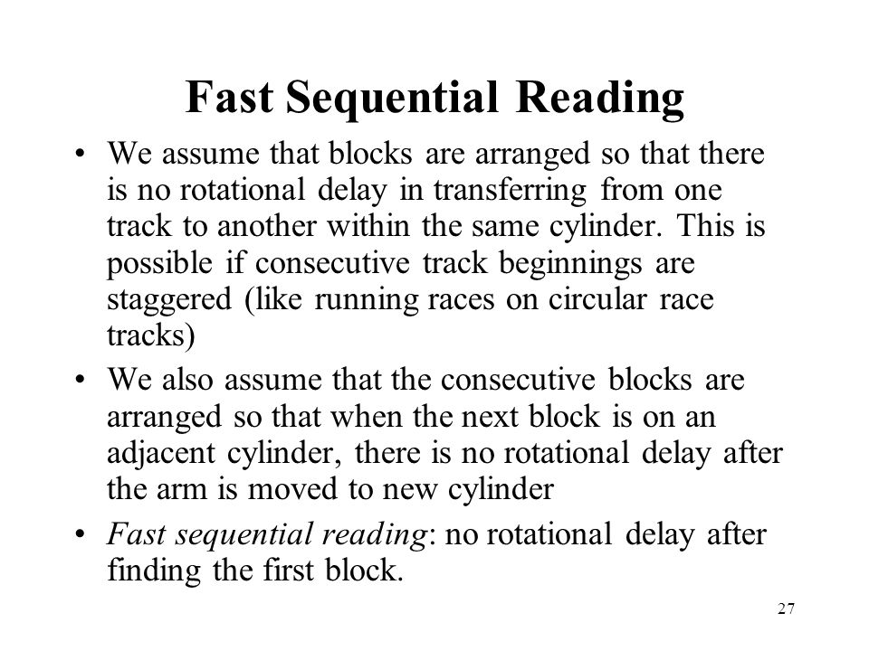 Fast Sequential Reading